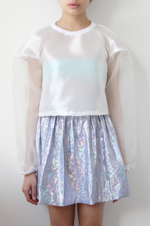 bubble top and skirt