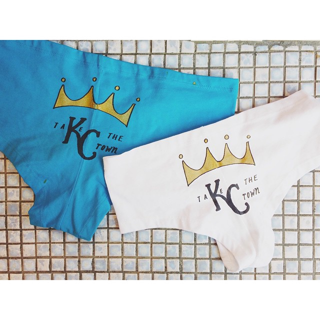 kiss my ROYAL ass @ birdies !!! #birdiespanties #royals #worldseries