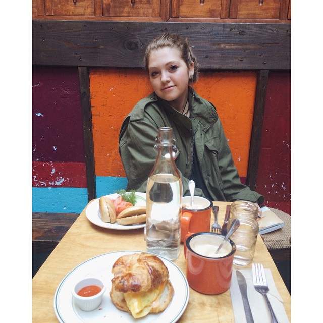 Lovely breakfast with my Emma before she goes back to the holy land of LA :) #lamodedujour #mud #eastvillage