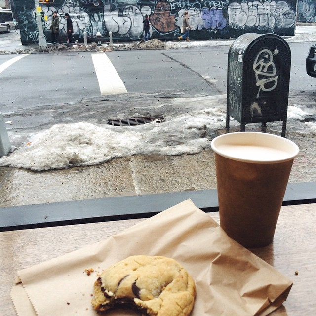 Good afternoon ☔️ this is the best cookie I've had since moving here ? #soho